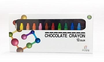 韓國進口巧克力蠟筆12色