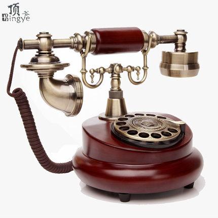 復古工藝-旋轉仿古歐式田園時尚創意復古電話機固話家用電話  預購10天 現貨