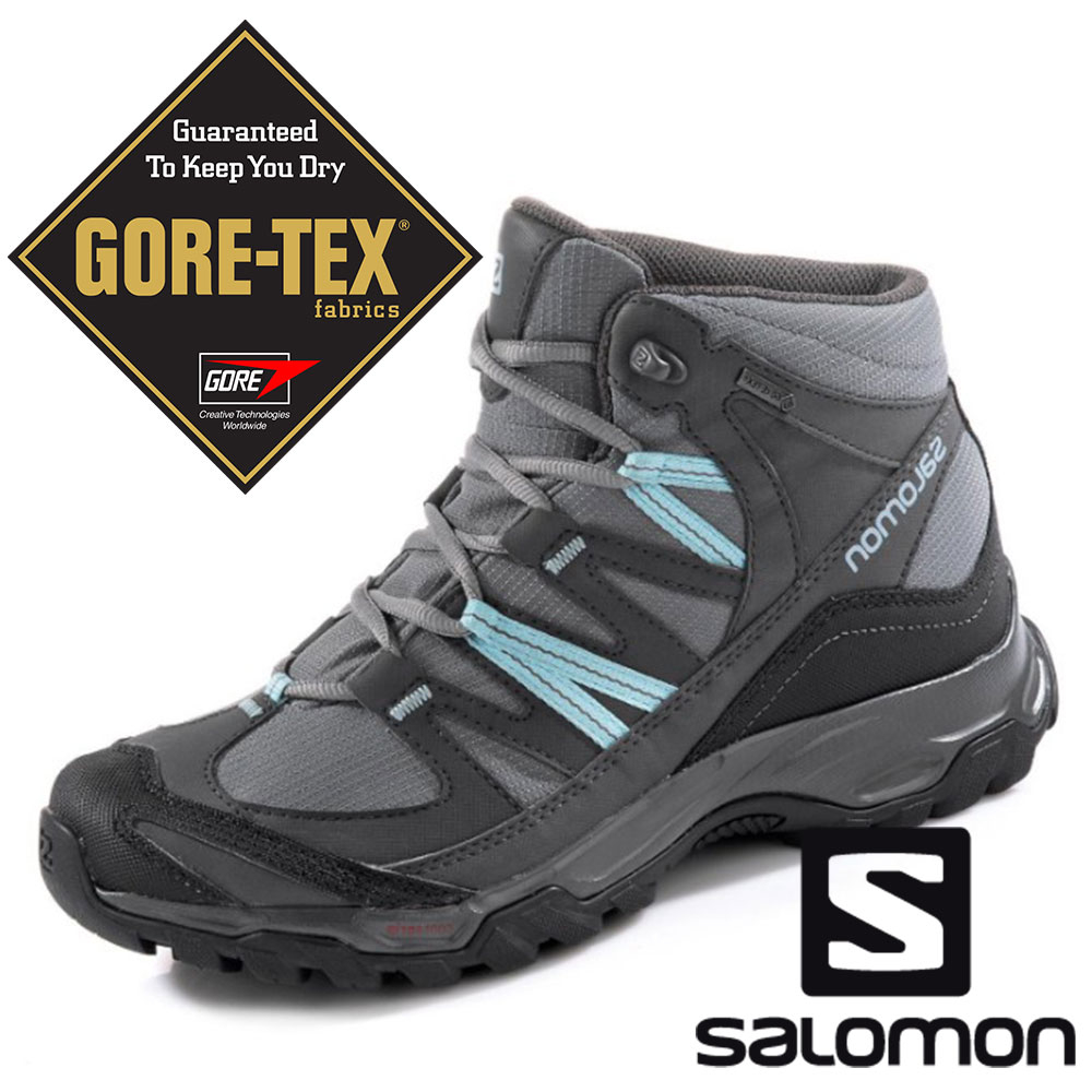 【SALOMON 法國】女MUDSTONE MID 2 GTX中筒登山鞋『陰影灰』394683 GORE-TEX 越野鞋 野跑鞋 登山鞋