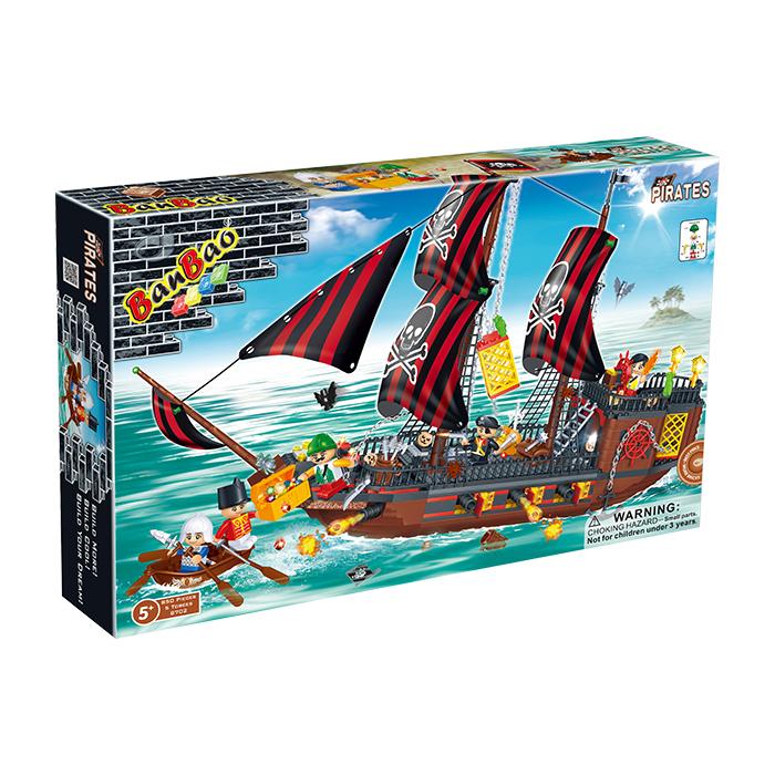 海盜系列 NO.8702幽靈船 海賊船(與樂高Lego相容)大盒【BanBao邦寶積木楚崴】
