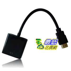[103美國直購 USAShop] SANOXY Black HDMI輸入轉VGA轉接器 For PC Laptop $443