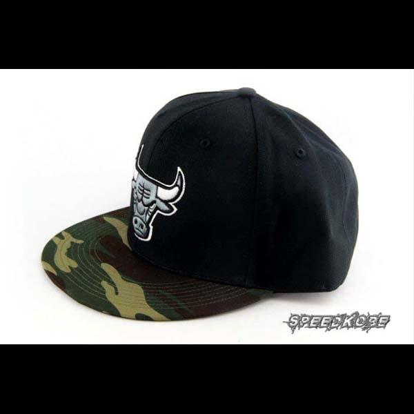SP創信NBA SNAPBACK棒球帽嘻哈帽黑迷彩公牛隊8531305-010