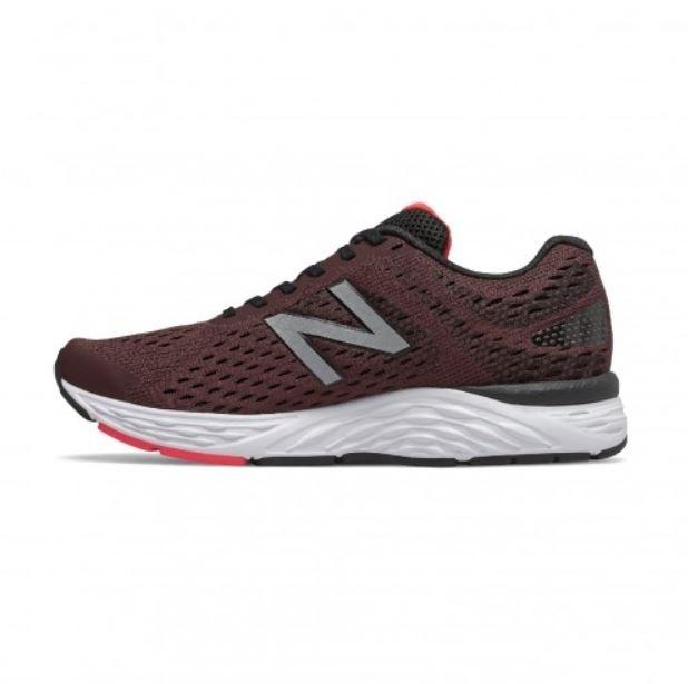 New Balance 男款4E寬楦運動慢跑鞋 酒紅-NO.M680CH6