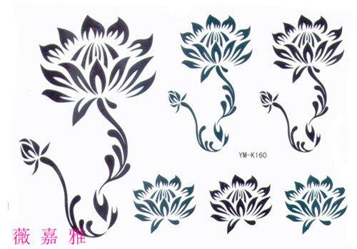薇嘉雅   綻放花朵  紋身貼紙 k-160