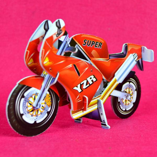 佳廷家庭 親子DIY紙模型3D立體拼圖贈品獎勵品專賣店 汽賽車摩托車 袋裝2款重型機車1紅 卡樂保