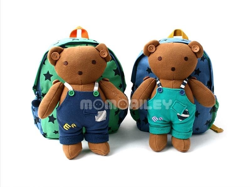韓國空運正韓童裝韓國WINGHOUSE品牌-MOMO熊星星造型防走失肩背包MA0251