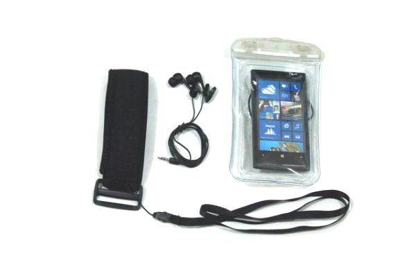 Nokia Lumia 920漂浮防水袋游泳Nokia Lumia 900運動防水臂套送防水耳機內建3.5mm耳機孔820 710 610防水套