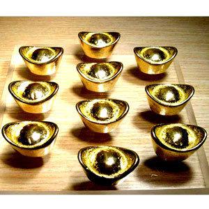 金元寶小10個包實心正銅