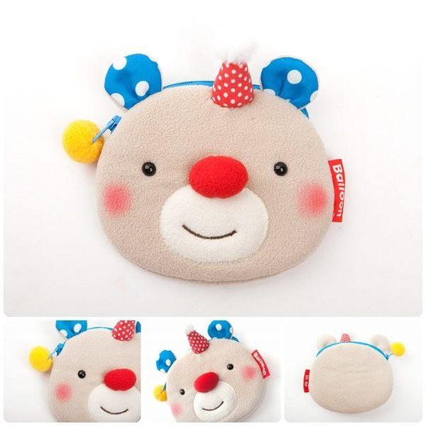 台灣自創品牌 布嚕夥伴 Balloon 熱氣球-寶貝熊 動物造型零錢包