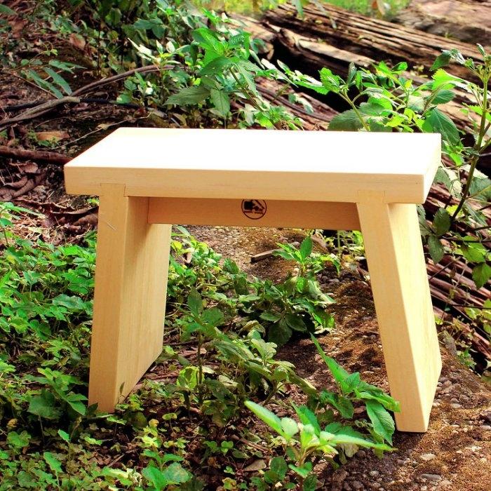 【木樂館】原木板凳│阿拉斯加扁柏黃檜│椅子凳子兒童椅室外椅庭院居家家具雜貨