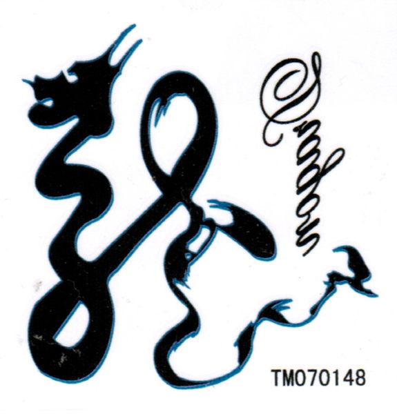 薇嘉雅   龍  超炫圖案紋身貼紙   TM70148