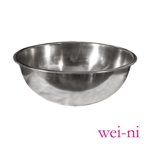 wei-ni正304不鏽鋼打蛋盆28cm調理盆西點製作糕點烘培用具沙拉盆攪拌菜盤料理盆鍋盆台灣製