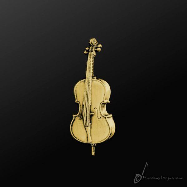 【小叮噹的店】全新 香港 MD MP005G 大提琴 Cello 金色  別針 香港進口 金屬 別針 胸針
