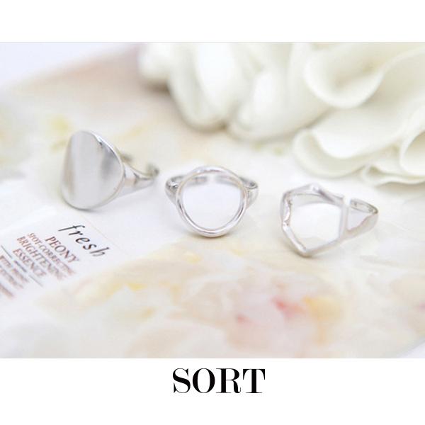 戒指 3件組 韓劇韓國明星同款 幾何鏤空造型組合戒指【1DDR0060】