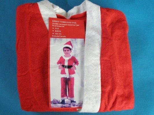小男生聖誕服.聖誕老公公服裝.不織布四件套(小孩裝/男生)/一組入{促200}