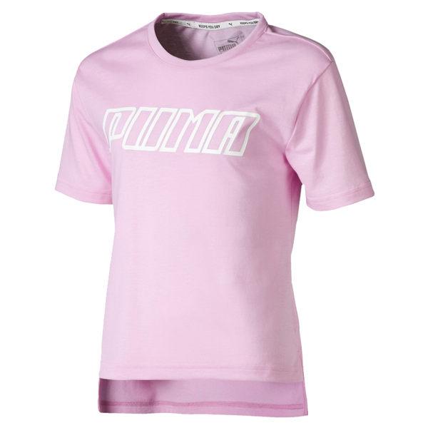Puma 粉色 兒童 童裝 女裝 短袖 運動上衣 短T 排汗 透氣 運動 上衣 短袖 85433721