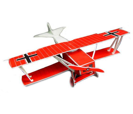 ☆猴子設計☆紅飛機明信片-DIY紙模型