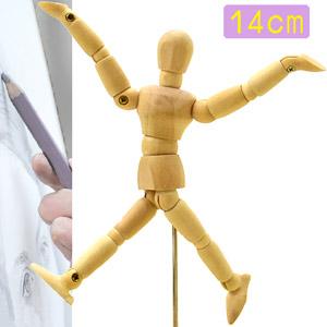 5.5吋關節可動木頭人14CM素描木製人偶14公分小木偶.關節可活動式木人工具人體模特model模型