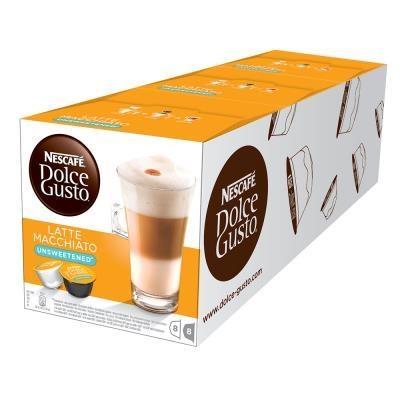 雀巢咖啡DOLCE GUSTO無糖拿鐵咖啡膠囊無添加糖
