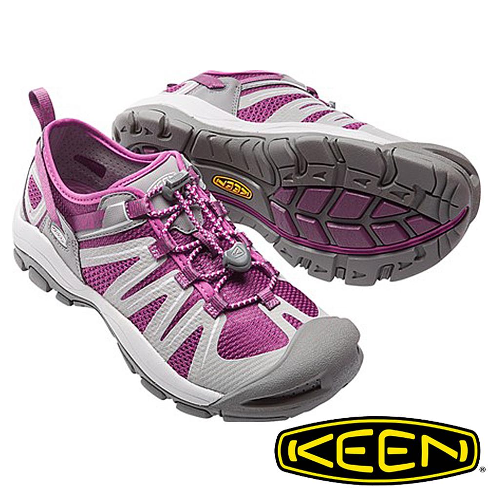 KEEN美國MCKENZIE II女護趾水陸兩用鞋紫灰1016798健行涼鞋健走海邊沙灘鞋