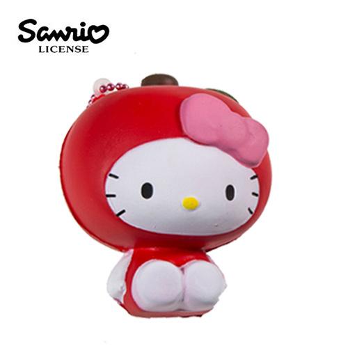 蘋果款【日本進口】Hello Kitty 凱蒂貓 水果造型 捏捏吊飾 吊飾 捏捏樂 軟軟 三麗鷗 Sanrio - 614520