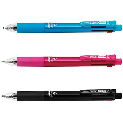 【奇奇文具】【ZEBRA  斑馬 原子筆】ZEBRA B4SA11   4 1 (0.7mm) 斑馬多功能真順筆/油性原子筆