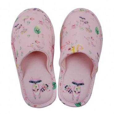 HOLA home彩繪樂園兒童拖鞋包口款M