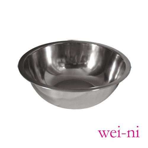 wei-ni正304不鏽鋼打蛋盆24cm調理盆西點糕點烘培沙拉盆攪拌菜盤料理盆鍋盆鍋具台灣製