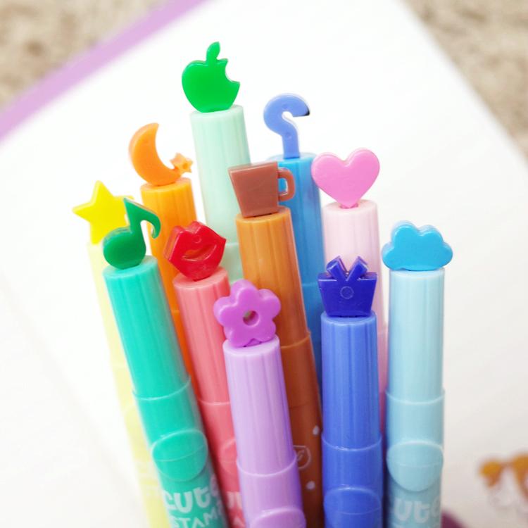 PGS7富士拍立得筆手帳本用印章型型光筆造型筆彩繪筆裝飾手帳本日記SHZ7144