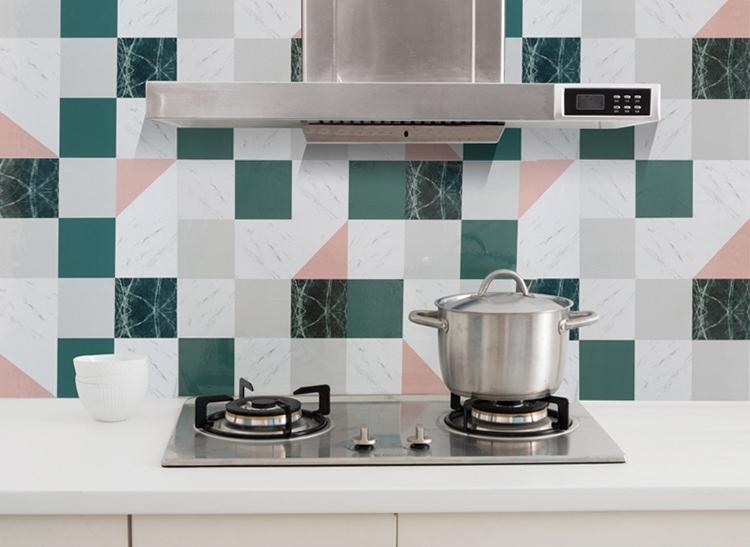 【鋁箔防油貼】廚房除油煙機防油煙貼 流理台磁磚自黏貼紙 45X75防髒防油牆貼