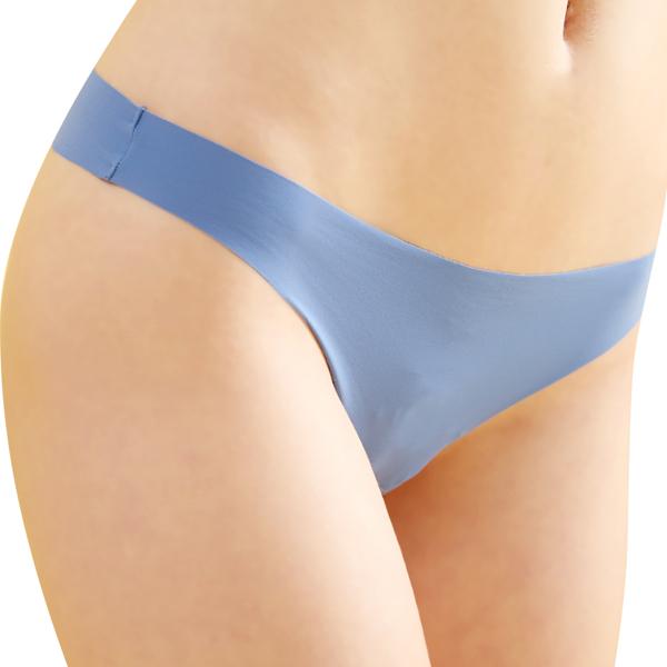 思薇爾-全素面FREE SIZE糖果低腰丁字褲(水晶藍)