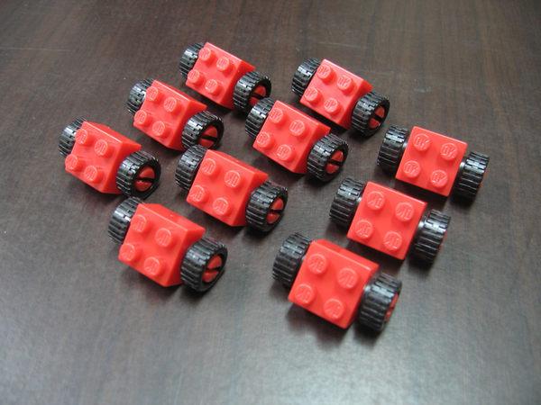【台灣製我高OK積木】小顆粒專用 車輪(10pcs)