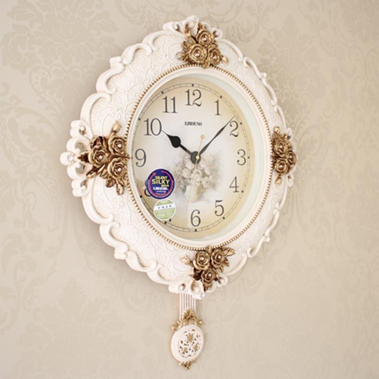 復古鐘表歐式掛鐘客廳靜音豪華時鐘元氣少女