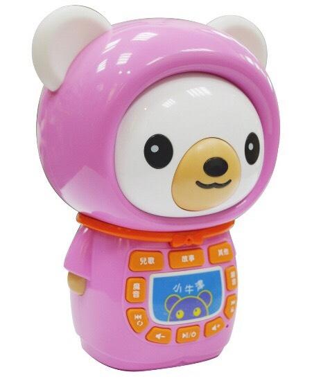 【大衛】小牛津帽T熊故事機-粉色(MP3可充式鋰電池)
