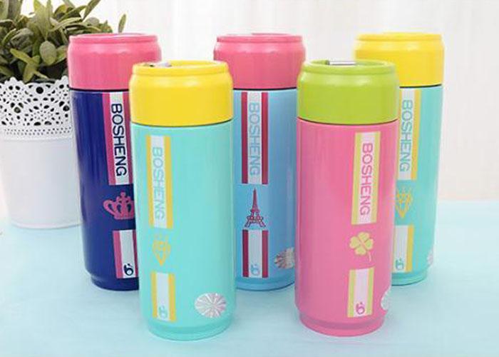 保溫杯【KCW050】暖色系易開罐造型不鏽鋼保溫杯450ml 保溫瓶  隨手杯 情人節 對杯 收納女王