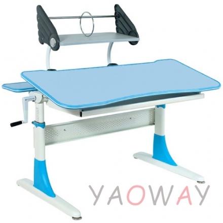 耀偉費蕾雅成長桌藍色系水藍美耐板面-120桌寬全能桌升降桌兒童成長桌書桌課桌