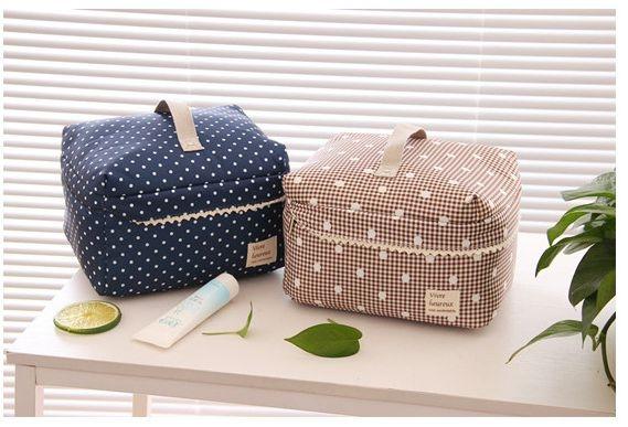 化妝包【HPN015】韓系大容量Lady蕾絲 隨身包 購物包 零錢包 手提包 化妝包 收納女王