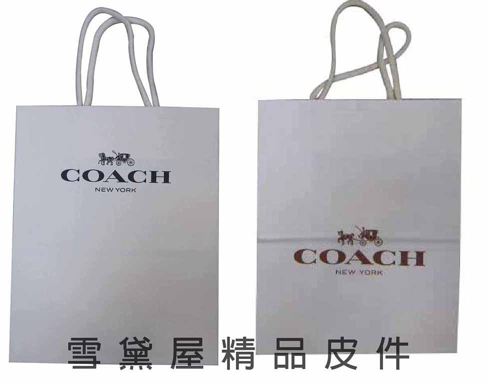 雪黛屋~COACH提袋國際正版長型皮夾小型包小手拿包紙提袋進口紙質摺疊收納展開為提袋-提袋8140