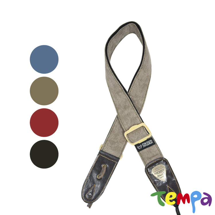 【Tempa】SOLDIER 吉他背帶-牛仔風