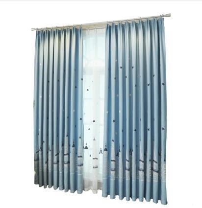 食尚玩家   定做地中海風格棉麻刺繡花窗簾紗 1.5米寬*2.0米  1.5米寬*2.5   1.5米寬*2.7一片 支持定制