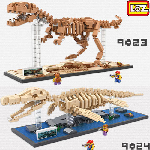 LOZ 迷你鑽石小積木 恐龍博物館 侏儸紀 樂高式 組合玩具 益智玩具 原廠正版