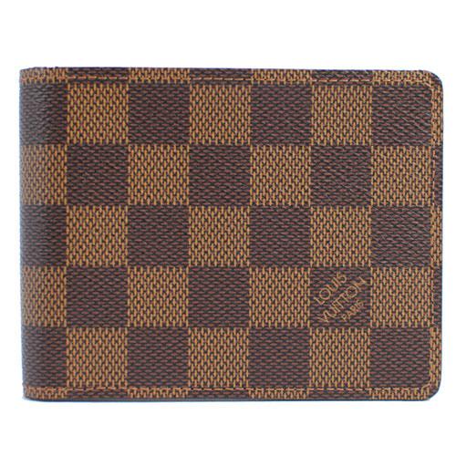 茱麗葉精品全新精品Louis Vuitton LV N60895 Damier棋盤格紋折疊短夾預購