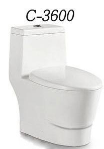 【麗室衛浴】國產精品 漩渦雙龍捲式沖水 單體馬桶 C-3600