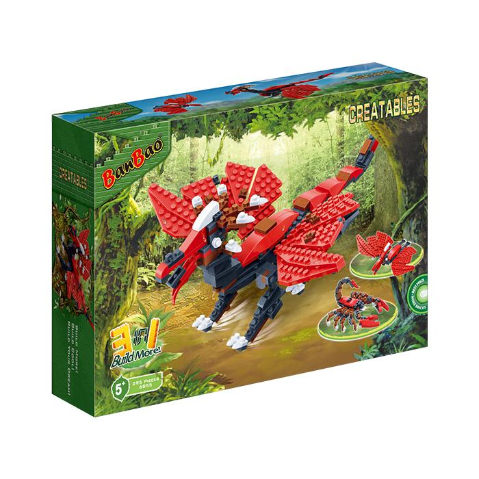 三合一系列 NO.6855戰神翼龍 3合1 恐龍(與樂高Lego相容)【BanBao邦寶積木楚崴】