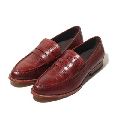 真皮懶人鞋鱷魚紋-商務休閒英倫時尚男休閒鞋3色73kv80巴黎精品