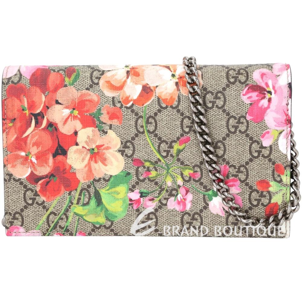 GUCCI Blooms GG Supreme花朵系列鍊帶包深粉色1620232-21