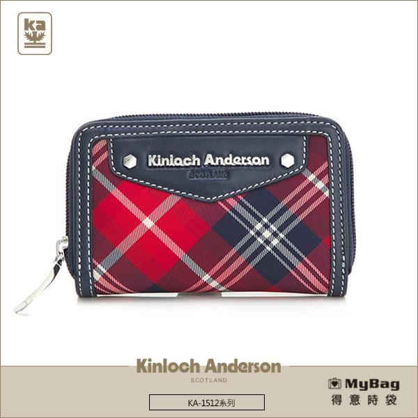 Kinloch Anderson金安德森皮夾零錢包卡夾KA151207紅藍經典格紋女夾MyBag得意時袋