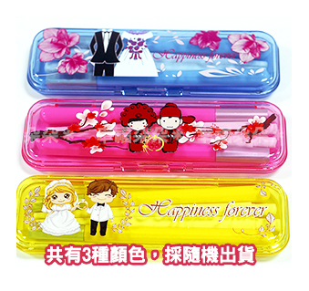 破盤出清幸福朵朵馬卡龍繽紛色攜帶式環保筷組送客禮姊妹禮筷子婚禮小物