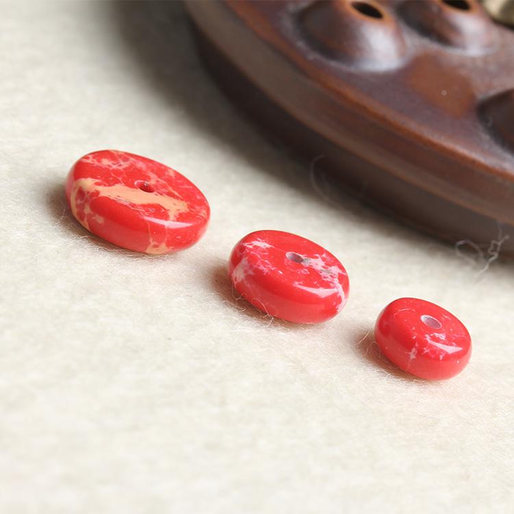 [超豐國際]DIY水晶飾品配件紅帝皇石隔片手鏈項地成品手工飾1入