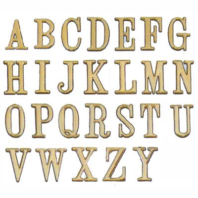 沙蒙DIY 圓弧燙金可貼5cm英文字金字/貼牌/黏牌/標示牌A-Z